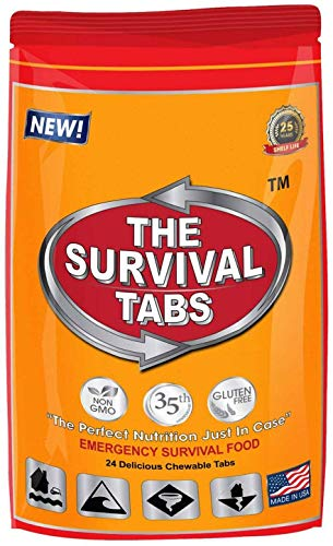 Survival Tabs 8-Day Food Supply 96 Tabs Emergency Food Replacement Disaster Preparedness for Earthquake Flood Tsunami… 4