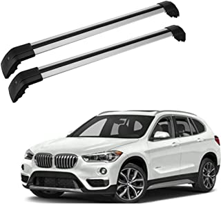 MWay Black Steel Roof Rack Rail Cross Bars for BMW 3 Series Touring E91 Kit 16