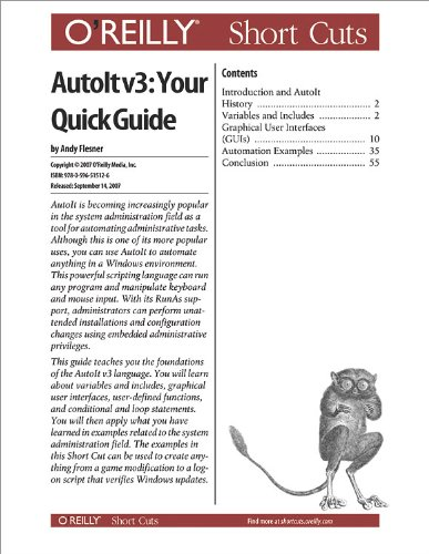 AutoIt v3: Your Quick Guide (English Edition)
