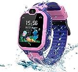 LDB Kinder Smartwatch Telefon, Wasserdicht Phone LBS Tracker Mikrochat SOS...