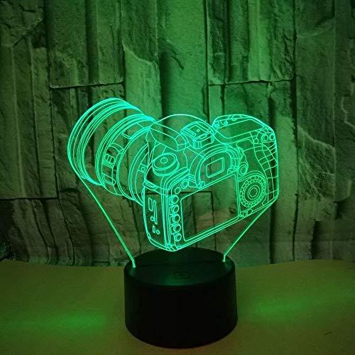 HJW-CD 3D Kamera Foto Nachtlicht Lampe 7 Farbwechsel LED Touch USB Tisch Geschenk Kinder Spielzeug Dekor Dekorationen Weihnachten Geburtstagsgeschenk
