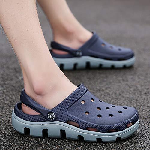 Chanclas Unisex Zapatos De Agujero Hombres Causal Sandalias De Verano Causal Eva Jardín Crocks Zuecos Zapatos De Hospital De Espuma De Memoria Suave Resbalón Masculino En La P