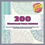 200 Mandalas para hombre Libro para colorear - Diseños dibujados a mano - Bueno para todas las edades - Páginas para colorear relajantes - Libros para colorear Kawaii para la relajación