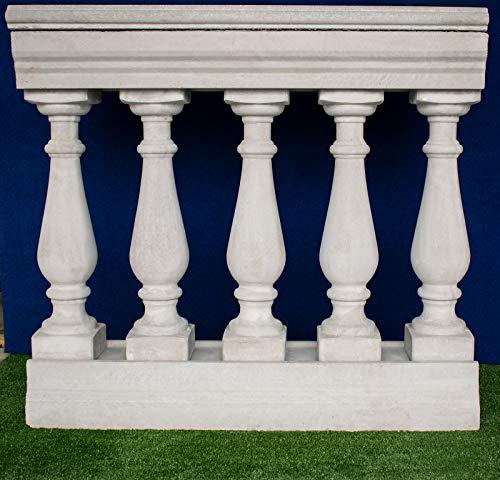 Bosco Manufatti Balaustra de cemento gris Art. 02 100 cm, altura 92 cm