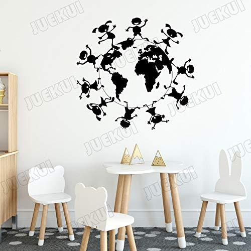 zhuziji Troll Film Wand stickersren um die Erde Wand se auf s Home Vinyl PVC wasserdicht Wohnzimmer unternehmen Schule büro mural57x57cm