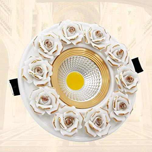 Pinjeer Führte 3W / 5W Blumen-Skulptur-runde eingebettete Deckenverkleidungs-Licht-Moderne vertiefte Downlights Gang-Studien-Wohnzimmer-Büro-Speicher-dekorative Scheinwerfer
