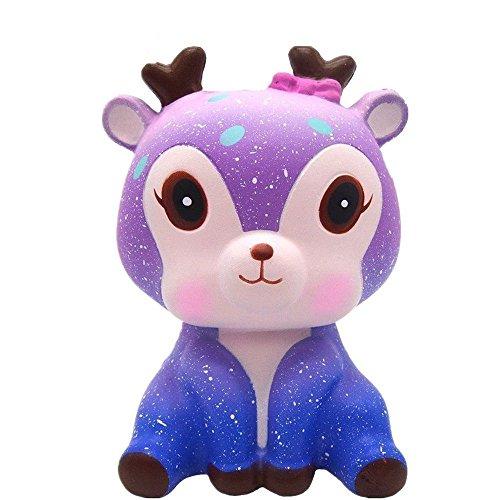 2018 neueste squishy spielzeug squeeze galaxy spielzeug hirsch, fanxieast 5 zoll scream duftete langsam steigendes spielzeug geschenk für kinder