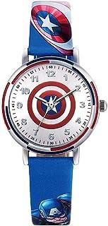 BCCDP Reloj para niños Capitán América para niños Marvel Joint 6 años de Edad, 10 años de Edad, niño Preescolar, Reloj Imp...