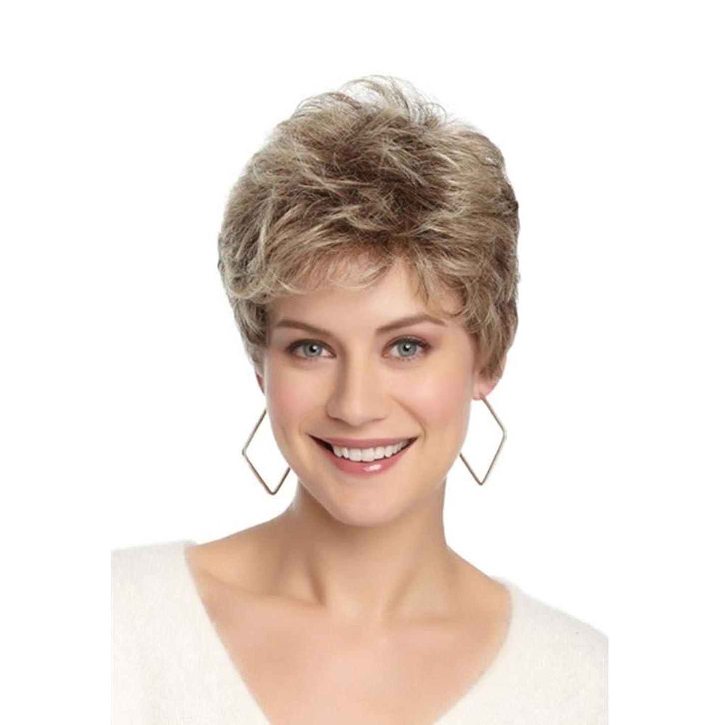 バー重々しい資本主義WASAIO 女性の金髪カーリーウィッグ耐熱ナチュラル (色 : Blonde)