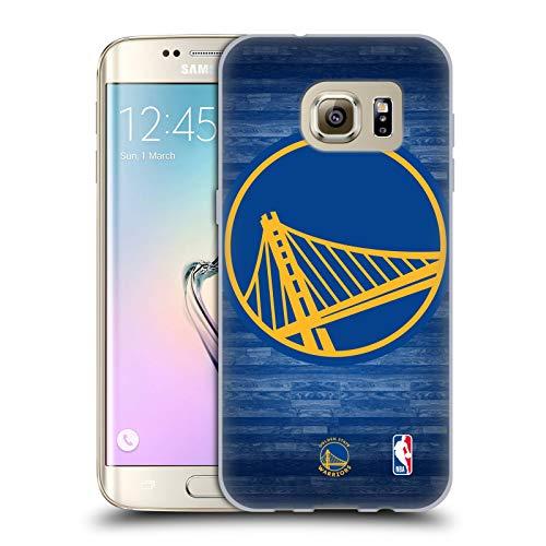 Head Case Designs Ufficiale NBA Tribunale Smisurato Golden State Warriors 3 Cover in Morbido Gel Compatibile con Samsung Galaxy S7 Edge