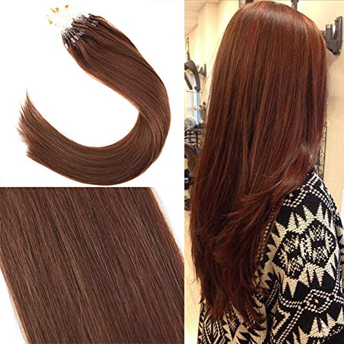 Youngsee Micro Rings Real Hair Extensions in Dark Auburn