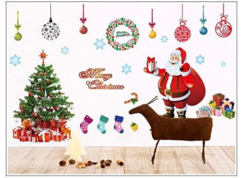 Decoraciones navideñas para ventanas, Papá Noel Árbol de Navidad Vidrio Ventana Decoración de la pared Pegatinas de pared Pegatinas...