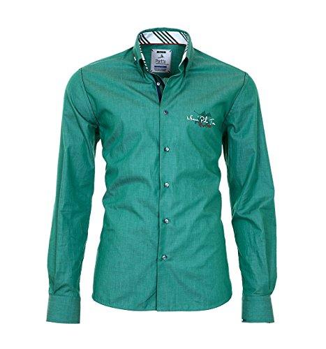 Pontto Hemd Herrenhemd Red Line Collection Green XXL