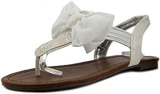 Womens Swan 2 Split Toe Casual T-Strap Sandals, White, Size 5.0