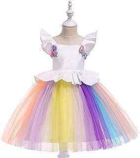 BCSHF Vestido de Princesa de Las niñas Infantil Colorido Vestido de la Princesa de la Falda Vestido de la celebración de d...
