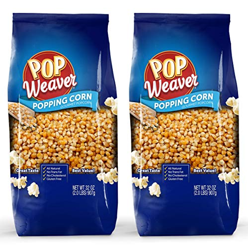 Pop Weaver Popping Corn Kernels - 4 Pounds Total (2 bags of 2 Pounds)