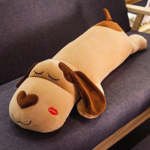 Pogo chien oreiller long oreiller coussin de lit mignon oreiller de voiture oreiller de couchage (120cm) ( Color : Squinting )