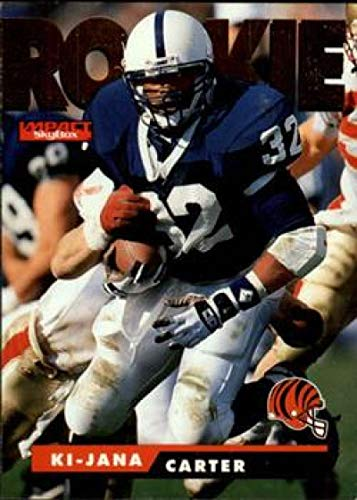 1995 SkyBox Impact Football #169 Ki-Jana Carter RC Rookie Card Cincinnati Bengals Official NFL Trading Card From Fleer International