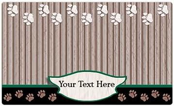 Drymate Personalized Pet Place Mat - Green Tan Paw - Personalized Pet Food Mat