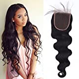 10'-18' Top Lace Front Closure 4 * 4 pour Extension Tissage Bresilien en Cheveux Naturels Vierges Ondulé - 100% Unprocessed Brazilian Hair Body wave - 16'(40cm)
