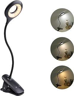 Elastyczna lampka do czytania książek, ładowana bez kabla, 28 diod LED, 3 W, lampa zaciskowa USB, dotykowa, z przełączniki...