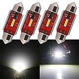 Qasim 4x LED C5W Festoon sin Errores 36MM Blanco 1-1860-SMD para Automóvil Interior de Coche Luces Domo Luz Mapa Puerta Matrícula Bombillas DC9-28V