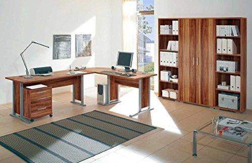BEGA Arbeitszimmer komplett Büromöbel Komplettset mit großem Schreibtisch