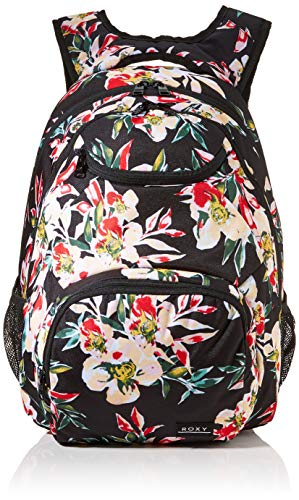 Roxy Women's Shadow SWELL Printed Backpack, Anthracite Wonder Garden S, Dimensions: 18''...