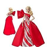 z-xlin hecha a mano del traje del vestido de noche de la princesa traje for barbie, pelo rubio largo, el uso de lunares vestido de accesorios y, rojo y prótesis, estilo, moda y accesorios delicados