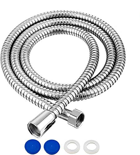 1.75m(69 ) Shower Hose Stainless Steel Universal Replacement Shower Pipe Chrome Anti-Kink with 2 Washers