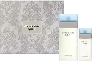 Dolce & Gabbana Light Blue Perfume 2 Pc. Gift Set (Eau De Toilette Spray 3.3 Oz & 0.84 Oz) For Women