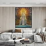 wopiaol Sin Marco Tarjeta de Arte de Encantador de Serpientes Mitología pagana Psychedelic Bohemian Gypsy Goddess Lámina y póster Lienzo Pintura Decoración para el hogar