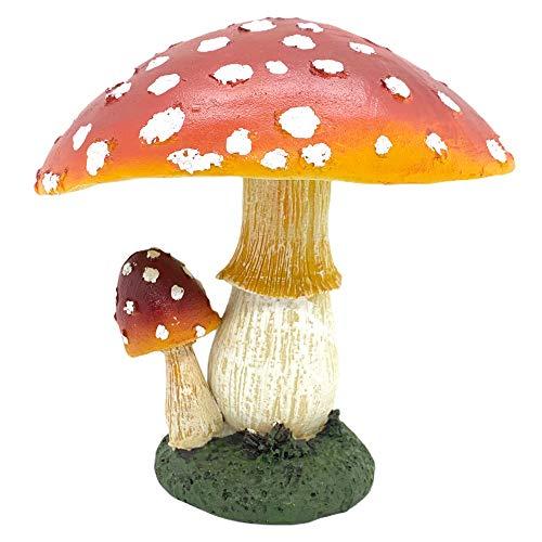 Farmwood Large Mushroom/Toadstool Garden Ornament Realistic Design Double Mushroom