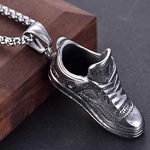 NC110 Europäischer und amerikanischer Schmuck Titan Stahl Laufschuhe Anhänger Halskette Trend Geschenk für Männer Edelstahl Turnschuhe Anhänger YUAHJIGE