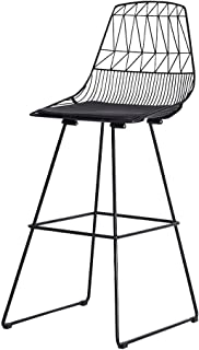 NMDB European Modern Barstool Chaise Fer Vintage avec Coussin pour Salon Bar Cafe  Couleur Set One
