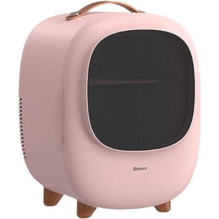 Mini Fridge, for Bedroom Portable Mini Fridge for Cute Car Silent Outdoor Mini Fridge (Color : Pink)