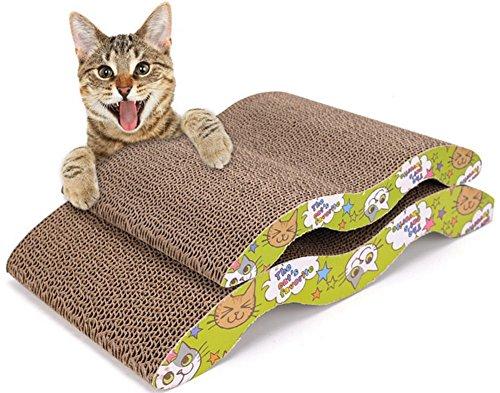 Demarkt Kratzbrett für Katzen mit Katzenminze M Type 34.0 * 23.5 * 5.0cm
