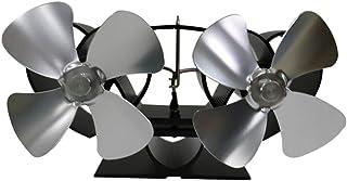 Kongqiabona-UK Ventilador de Chimenea termoeléctrico YL301 Ventilador de Estufa de leña ecológico Ventilador de Cuatro Hojas para leña/Estufa de leña/Chimenea