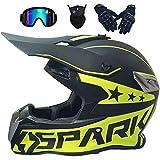 Casco moto quad, casco integrale motocross, fuoristrada elettrico dirt bike atv quad mx 50cc mini moto per bambini e adulti