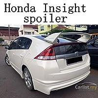 ホンダインサイトスポイラーカースタイリングabsプラスチック塗装色リアトランク翼ブーツリップルーフスポイラー自動車の装飾-white
