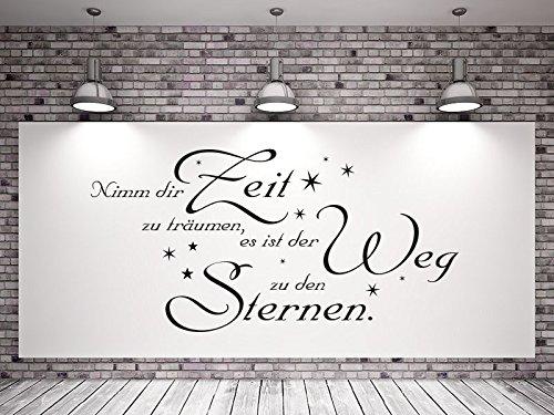 Klebeheld® Wandtattoo Nimm dir Zeit zu träumen, es ist der Weg zu den Sternen. No.4