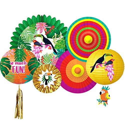 NICROLANDEE Decoraciones de Fiesta Tropical de Verano Aloha Hawaiano Selva Fiesta Estilo...