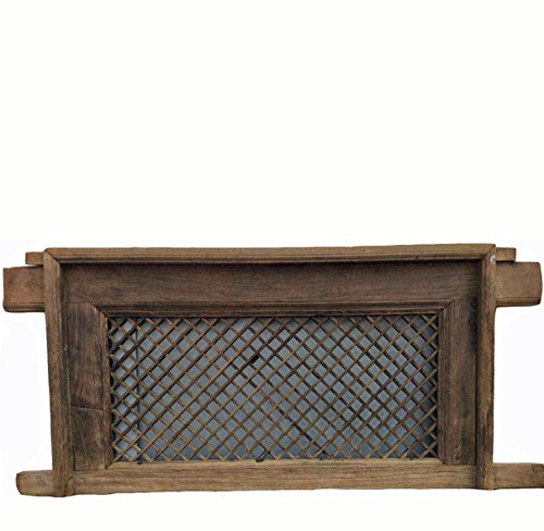 Sale!! DYAG East Antique Chinese Screen Window with Mounting Frame