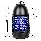 Lámpara Antimosquitos Eléctrico, Mosquito Lámpara Trampa de 7W con Luz UV, Matamoscas Eléctrico de Alta Eficiencia, Trampa de Insectos para Interior y Exterior, contra Mosquitos, Moscas, Polillas ect