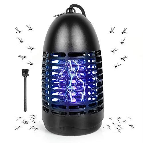 Lámpara Antimosquitos Eléctrico, Mosquito Lámpara Tramp de 7W con Luz UV, Matamoscas Eléctrico de Alta Eficiencia, Trampa de Insectos para Interior y Exterior, contra Mosquitos, Moscas, Polillas ect