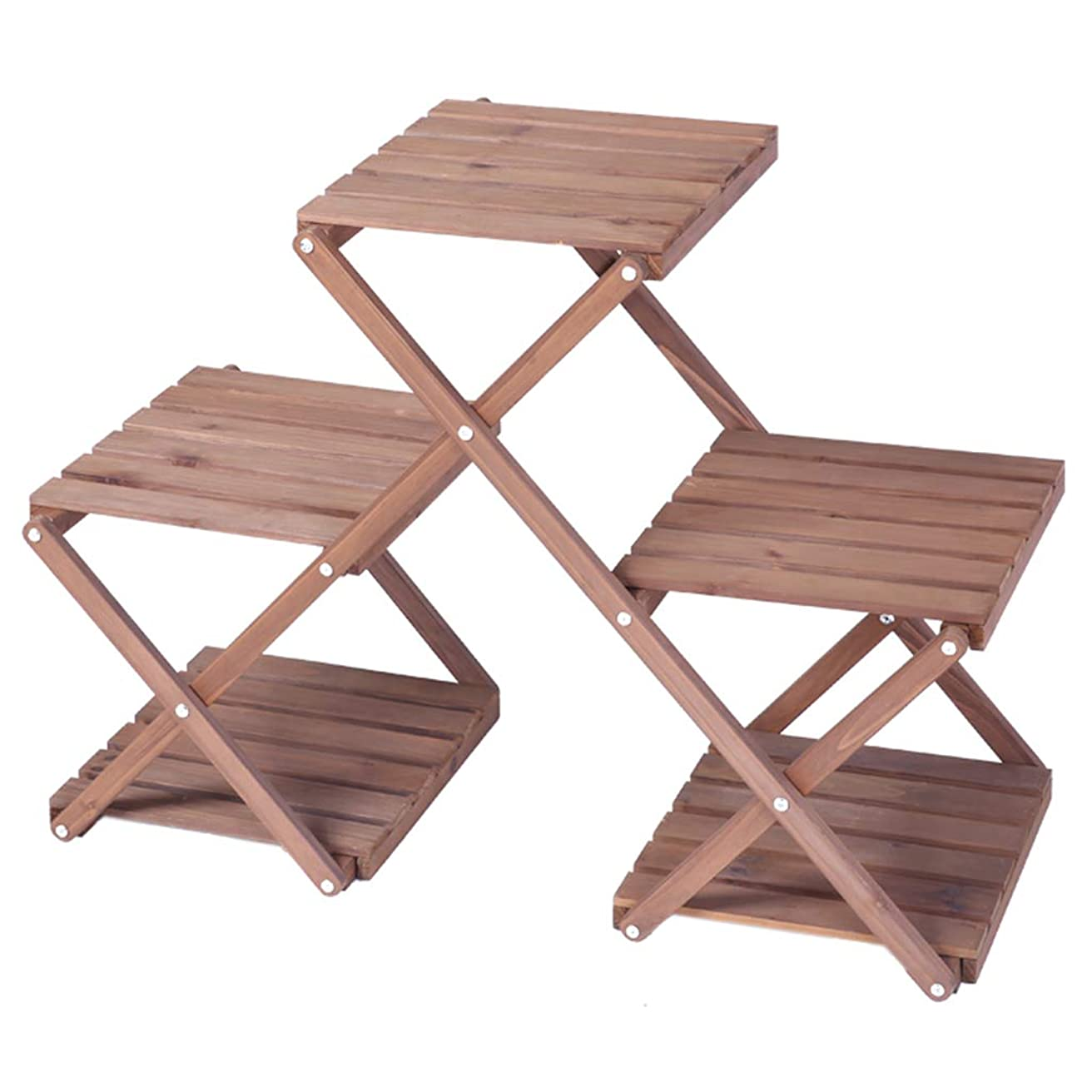 アコードエゴマニア効果的フラワー棚はしご木製植物ディスプレイスタンド収納ラック収納棚ポットスタンド用屋内リビングルームバルコニーの装飾