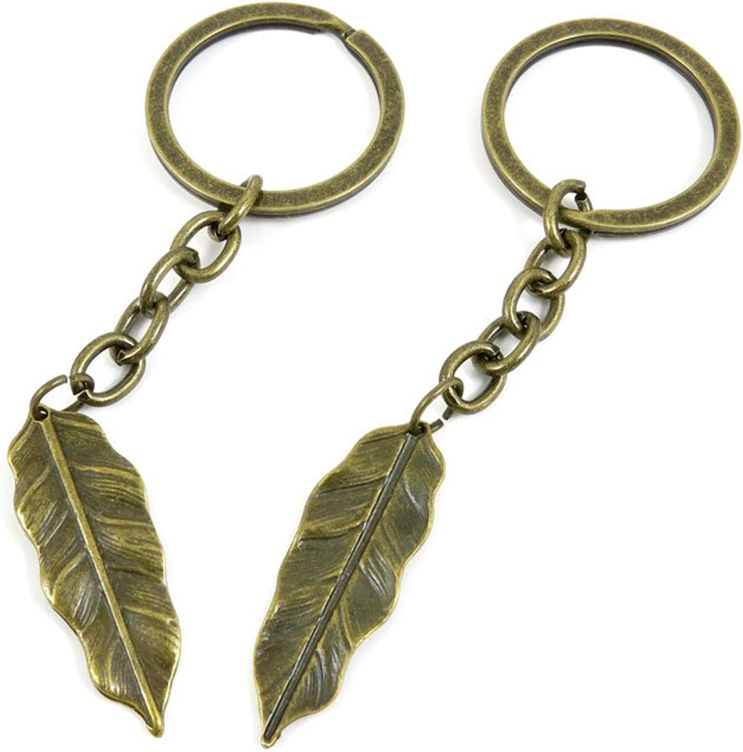 190 Pieces Fashion Jewelry Keyring Keychain Door Car Key Tag Ring Chain Supplier Supply Wholesale Bulk Lots K5XX2 Leaf Feather