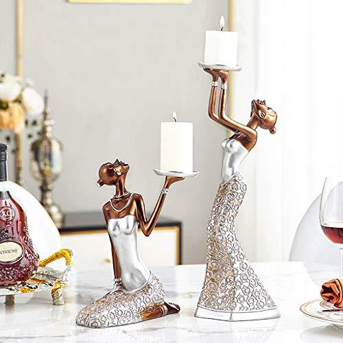 NYKK Portavelas Caracteres Antiguo de la palmatoria de Belleza candelabros Decorativos, centros de Mesa for Comedor/Sala de Estar-Mejor Regalo for la Boda/cumpleaños