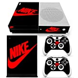Xbox One S Whole Body Vinyl Skin Sticker Decal Cover for Console and Controllers - Black Shoebox