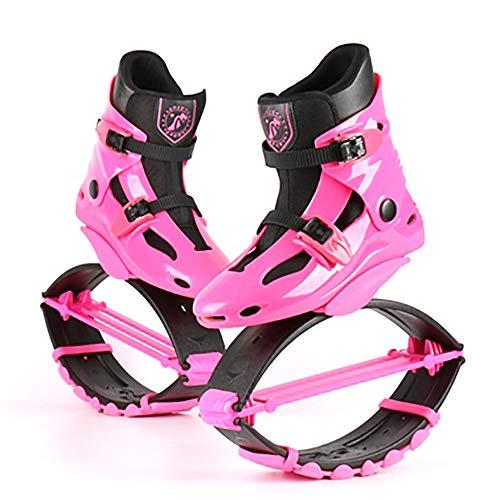 Erwachsene Jumps Running Boots, Anti-Gravity Bouncing Schuhe Jumping Shoes,Gewichtsbelastung Range 20-110Kg, Springschuhe FüR Damen Und Herren, Body-Shaping,Sport-Fitness-ZubehöR,pink-M